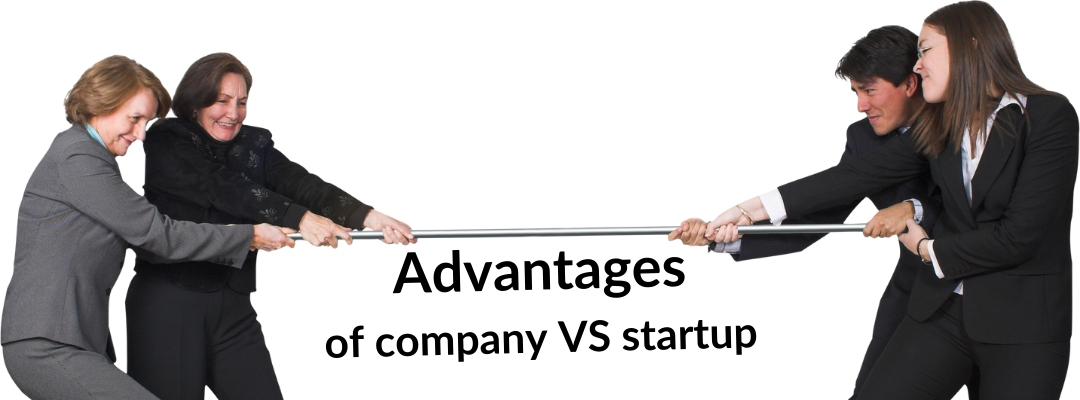 Advantages of company VS startup