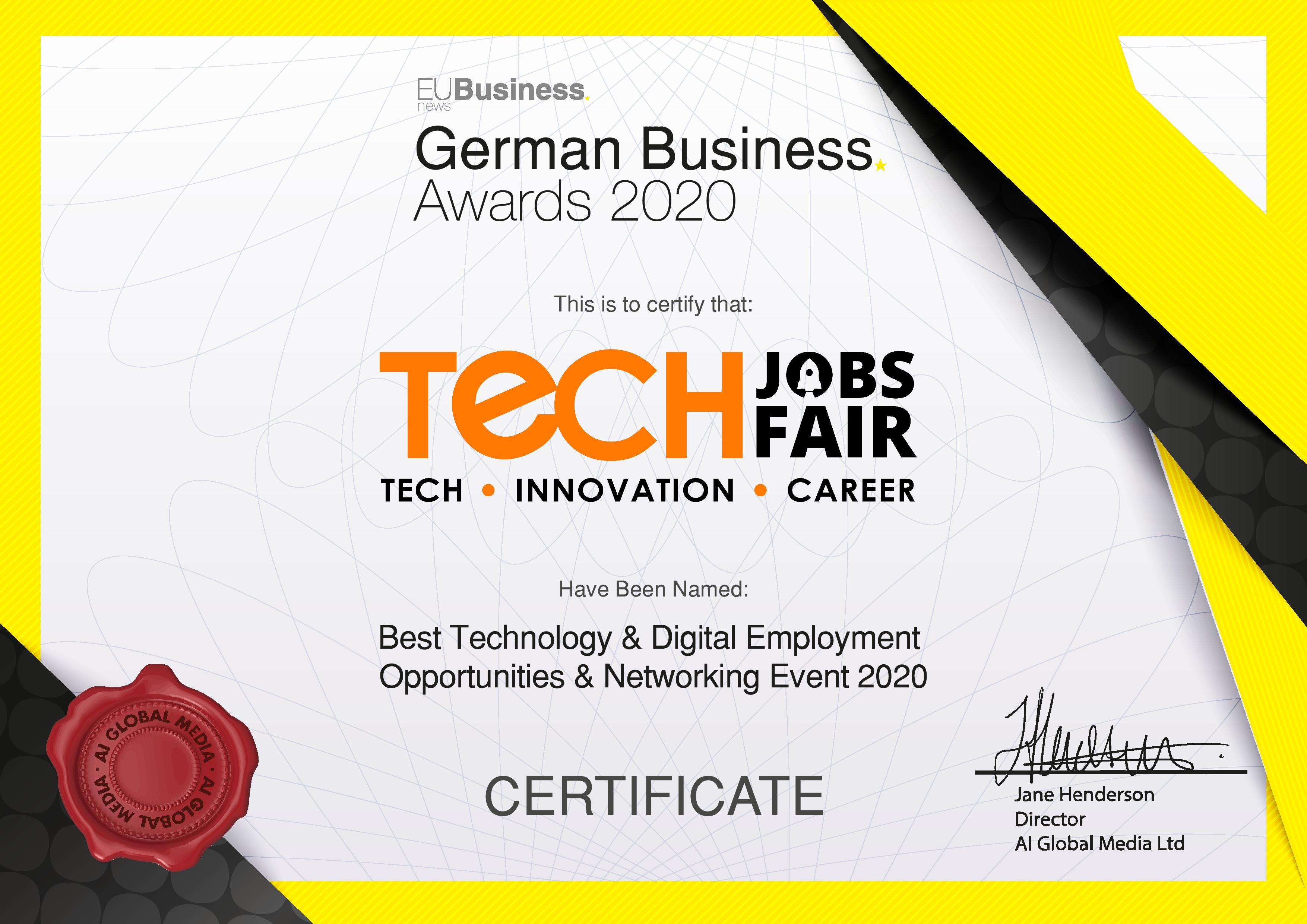 German Business Award 2020