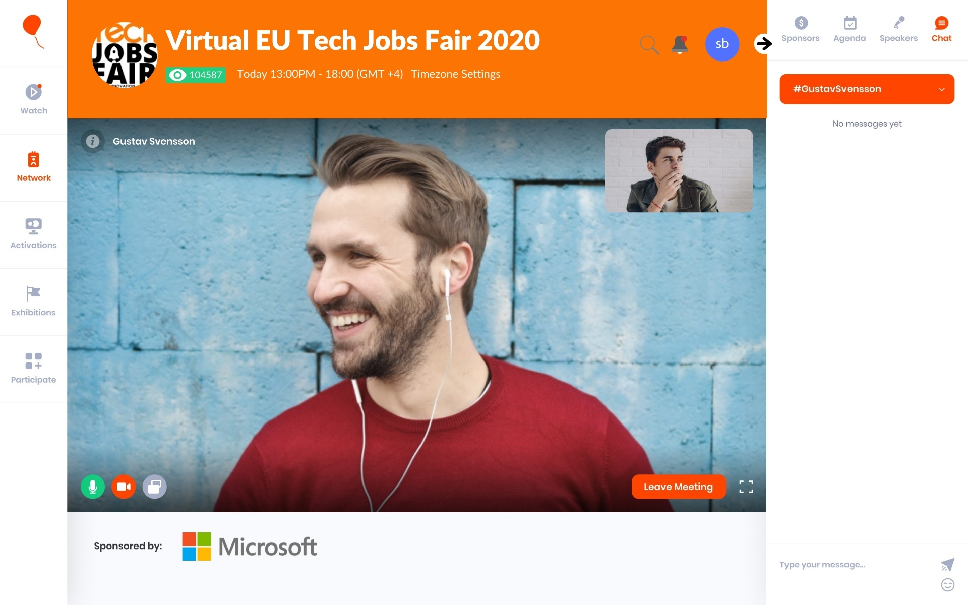 Networking at Virtual TJF 2020