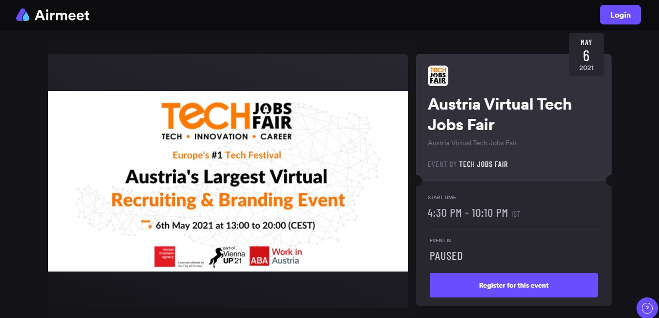 Airmeet to join TJF virtual event